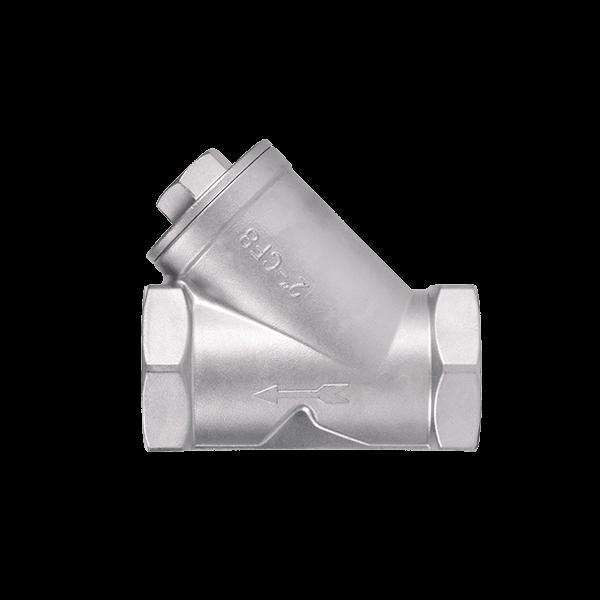 Фильтр осадочный муфтовый нержавеющий PN16 / сетка-нж сталь 316 /