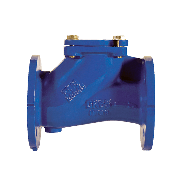 Обратный клапан шаровой фланцевый чугунный PN16 /шар-сталь+NBR/