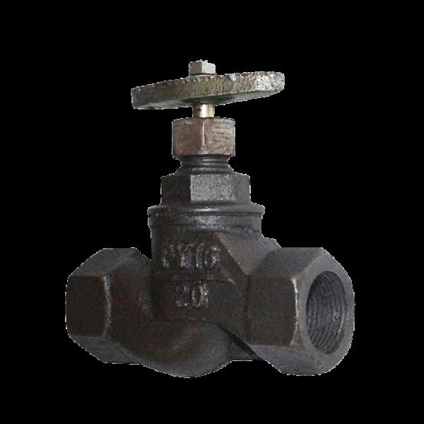 Вентиль чугунный запорный муфтовый 15кч18(33)п PN16, +225С